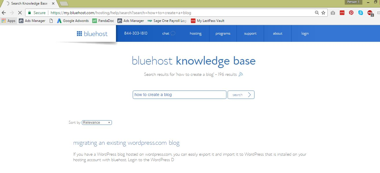 BlueHost Support 2