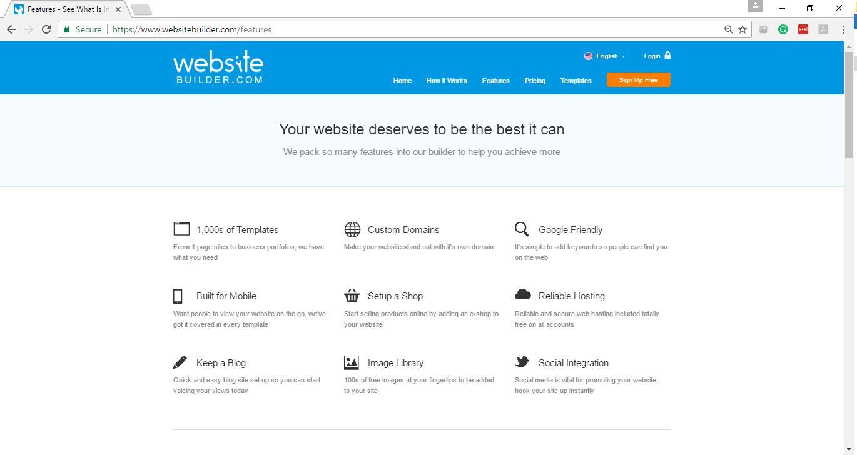 Websitebuilder Features