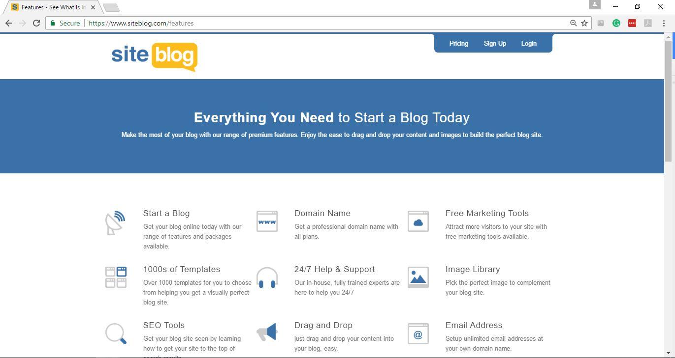 Siteblog Features 1