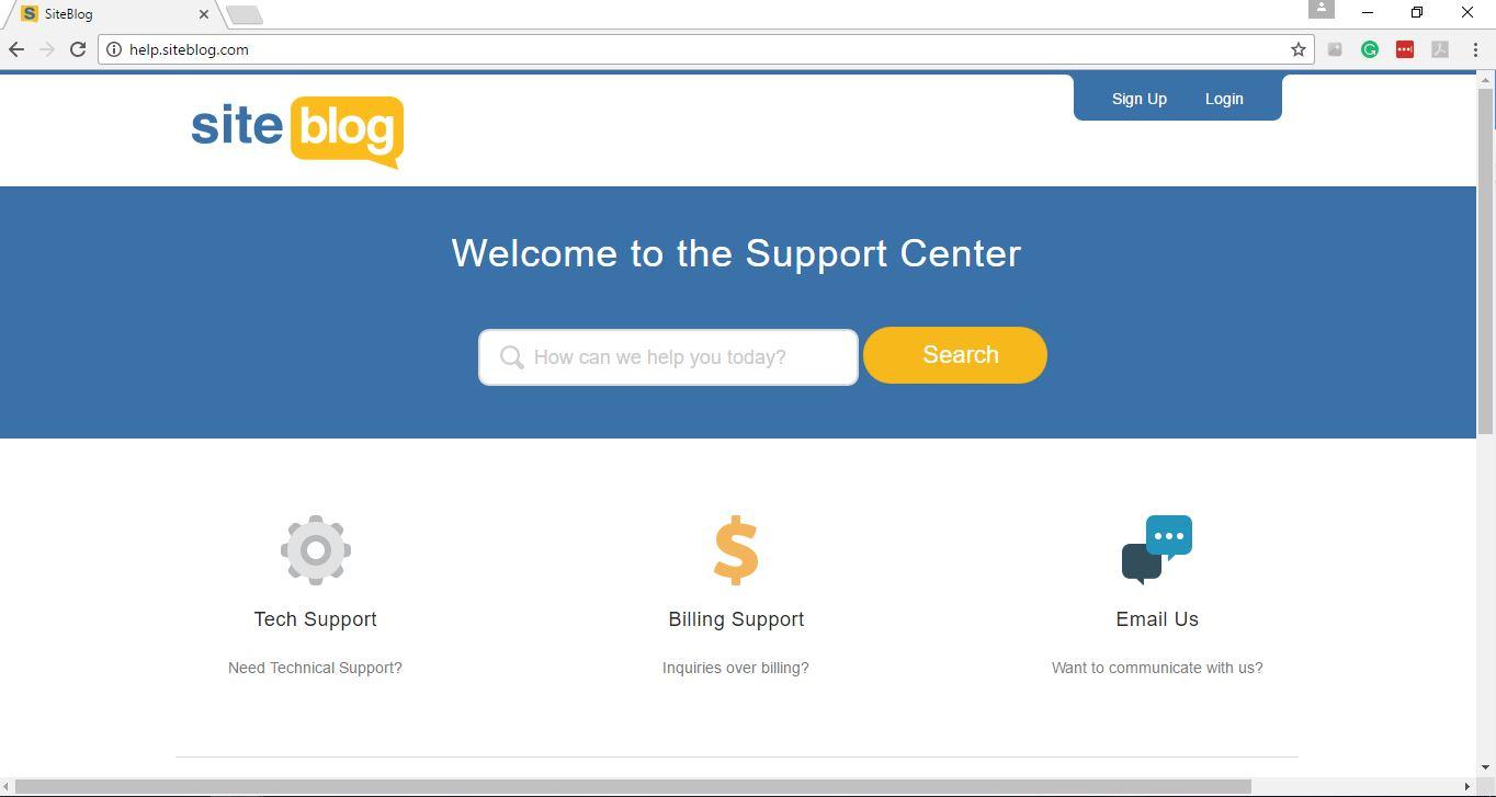 Siteblog Support